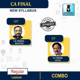 CA Final Direct Tax & Indirect Tax Regular Course Combo : Video Lecture + Study Material By CA VISHAL BHATTAD & CA VINOD GUPTA For ( Nov. 2021)