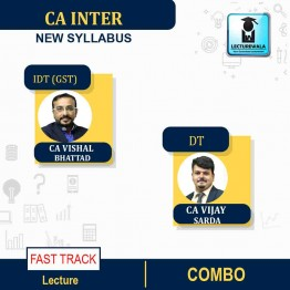 CA Inter GST and DT FAST TRACK Course  COMBO: Video Lecture + Study Material By CA Vishal Bhattad and CA Vijay Sarda (For May / Nov. 2021)