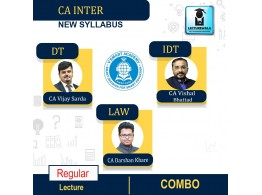 CA Inter Combo (Law + DT + IDT ) Live + Recorded New BatchFull Course : Video Lecture + Study Material By VSmart Academy (For MAY/NOV.2022)
