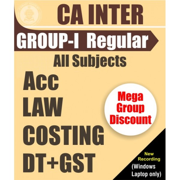 CA Inter Group 1 Regular Course All Subjects Combo : Video Lecture + Study Material By V Smart (For May 2020 & Nov. 2020)