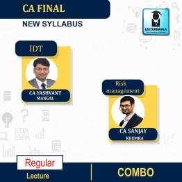 CA Final Risk Management & IDT Combo New Syllabus Regular Course : Video Lecture + Study Material By CA Sanjay Khemka & CA Yashvant Mangal (For Nov. 2021)
