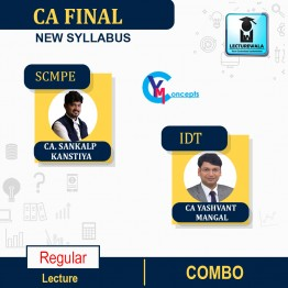 CA Final Combo SCMPE (New) + IDT (Old/New) Regular Course : Video Lecture + Study Material By CA Yashvant Mangal & CA Sankalp Kanstiya (For Nov. 2021 & May 2022)