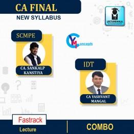 CA Final Combo SCMPE (New) Fasttrack (100% English) + IDT Formula 50 Batch : Video Lecture + Study Material By CA Yashvant Mangal & CA Sankalp Kanstiya (For Nov. 2021)