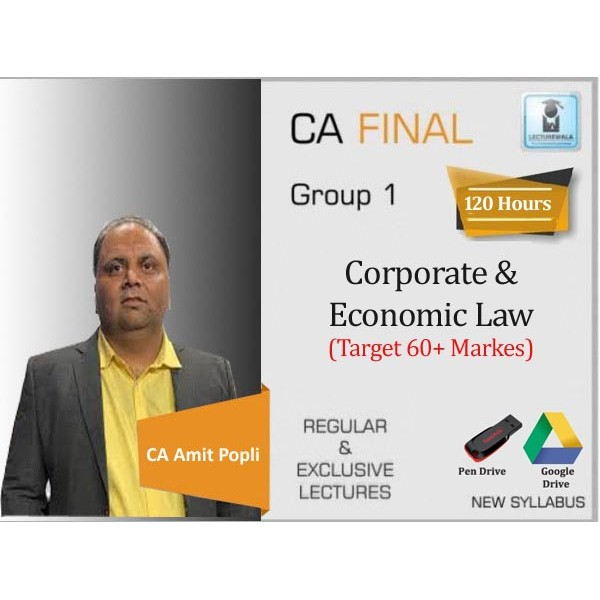 CA Final Law Target 60 + Batch New Syllabus Regular Course : Video Lecture + Study Material By CA Amit Popli (For May 2020 & Nov. 2020)