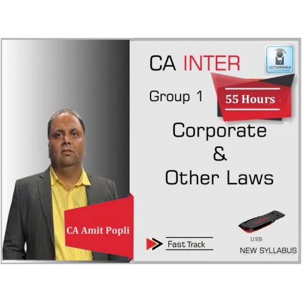 CA Inter Law New Syllabus Crash Course : Video Lecture + Study Material By CA Amit Popli (For Nov. 2019)