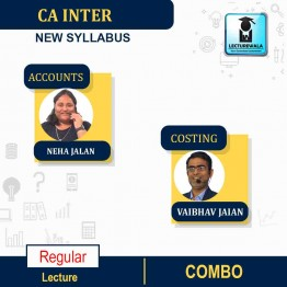 CA Inter Accounts and Costing Combo Regular Course : Video Lecture + Study Material By Neha Jalan And Vaibhav Jalan (For MAY & NOV 2021)