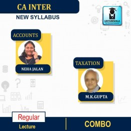 CA Inter Accounts And Taxation  Combo Regular Course : Video Lecture + Study Material By M.K.GUPTA AND Neha Jalan  (For NOV 2021)