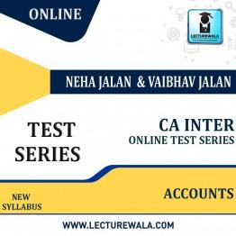 CA Inter  Accounts ONLINE Test Series  : By NEHA JALAN & VAIBHAV JALAN  (For MAY / NOV.2021)