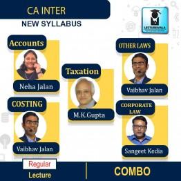 CA Inter Group-1 Taxation & Costing And ACCOUNTS & Law Regular Course Combo : Video Lecture + Study Material By  MK GUPTA And Vaibhav Jalan & Sanget Kedia AND Neha Jalan  (For MAY & NOV 2021)