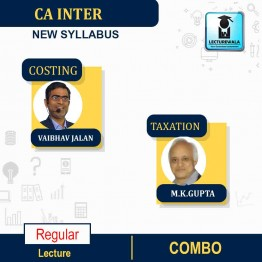 CA Inter Taxation & Costing  Regular Course : Video Lecture + Study Material By   M.K.GUPTA And Vaibhav Jalan  (For MAY & NOV 2021)
