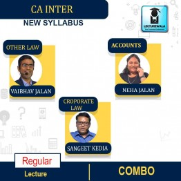 CA Inter CORPORATE LAW And OTHER LAWS & Accounts Combo Regular Course : Video Lecture + Study Material By Sangeet Kedia & Vaibhav Jalan & NEHA JALAN (For MAY & NOV 2021)