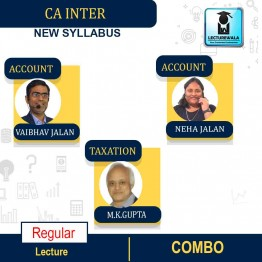 CA Inter Taxation & Costing And Accounts  Combo Regular Course : Video Lecture + Study Material By   MK GUPTA And Vaibhav Jalan AND Neha Jalan  (For MAY & NOV 2021)