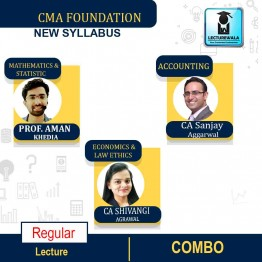 CMA Foundation All Subjects Combo Regular Course New Syllabus : By CA Sudhir Sachdeva, CA Shivangi Aggarwal, CA Aman Khedia (For May 2021)